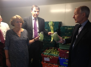 Baroness Jenkin, John Glen and Frank Field at FareShare